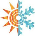 Cold - Termperature,Heat - Temperature,Air Conditioner,Symbol,Sun,Computer Icon,Design Element,Snowflake,Summer,Winter,Isolated On White,No People,Vector,Ilustration,Computer Graphic