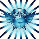 Star - Space,Sign,Insignia,Globe - Man Made Object,Artificial Wing,Earth,Wing,Sphere,USA,Scroll,North America,Shiny,Isolated-Background Objects,Isolated Objects,Objects with Clipping Paths,Vector Icons,Illustrations And Vector Art,Star Burst,Scroll,Message,South America,Scroll Shape
