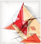 Shiny,Fantasy,Glowing,Composition,Origami,Futuristic,Business,Single Object,Shape,Decoration,Multi Colored,Backdrop,Red,Backgrounds,Abstract,Geometric Shape,Ilustration,Plan