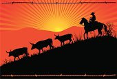 Cowboy,Cattle,Texas Longhorn Cattle,Texas,Wild West,Silhouette,Horse,West - Direction,Ranch,Sunset,Herding,Landscape,Barbed Wire,Herd,Vector,Rural Scene,Mountain,Sun,Hill,Rancher,Horseback Riding,Grass,Ilustration,Cowboy Hat,Animal,Sunbeam,Riding,People,Land,Freedom,Three Animals,Sitting,Uncultivated,Morning,Dusk,Summer,Activity,People Traveling,Cattle Drive,Standing,Tail,Male,Agriculture,People,Moving Down,Springtime,Industry,Outdoors,Sky,Animals And Pets