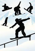 Snowboard,Snowboarding,Silhouette,Teenage Girls,Women,Sport,Mountain,Vector,Winter,Winter Sport,Snow,Extreme Sports,Female,Sports Ramp,Stunt,Sliding,Ramp,Tourist Resort,Pine Tree,Jumping,Railing,Outline,Mid-Air,Twisted,Sky,Winning,invert,Illustrations And Vector Art,Sports And Fitness,Competitive Sport,People,Gripping,Extreme Sports,Reaching,Flying,Competition