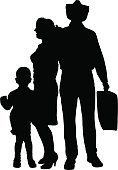 Women,Positive Emotion,Small,Togetherness,Silhouette,Ilustration,Parent,Mother,People,Vector,Child,Men,Father,Family