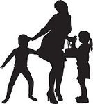 Togetherness,Small,Women,Ilustration,Holding,Sibling,Sister,Positive Emotion,Daughter,People,Vector,Family,Child,Mother,Parent,Lifestyles,Silhouette