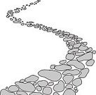 Stone Material,Footpath,Street,Cartoon,Sidewalk,No People,Rock - Object,Landscape,Vector,Curve,Paving Stone,Clip Art,Bent,Drawing - Art Product,Ilustration