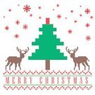 Cards,Happiness,Greeting,Geometric Shape,Holiday,Gift,Ilustration,White,Shape,Reindeer,Pixelated,Pattern,Design,Cube Shape,Red,Season,Vector,Greeting Card,Celebration,Winter,December,Christmas,Decoration