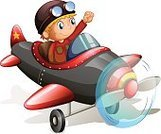 Airplane,Child,Speed,Turbine,Engine,Thruster,turbojet,Motion,shockwaves,Flying,Propeller,Air Vehicle,Computer Graphic,Bumpy,Vector,Backgrounds,People,Jetplane,Small,fixed-wing