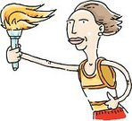Flaming Torch,Marathon,Track And Field Athlete,Running,Carrying,Sport,Jogging,Cartoon,One Person,Flame,Winning,Vector,Women,Opening Ceremony,Illustrations And Vector Art,Vector Cartoons,Performance,People,Celebration,Sports Race,Single Object,Ilustration,Competition