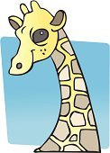 Giraffe,Animal Neck,Smiile,Cartoon,Isolated Objects,Wild Animals,Vector Cartoons,Illustrations And Vector Art,Wildlife,Portrait,Spotted,Animal,Animals And Pets