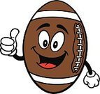 Ilustration,American Football - Sport,Characters,OK Sign,great job,Positive Emotion,Mascot,Thumbs Up,Leather,Cartoon,Vector,American Culture,Ball,Sport,pigskin