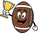 Trophy,Characters,Mascot,Cup,Winning,First Place,Award,Success,pigskin,Leather,Cartoon,Vector,American Football - Sport,American Culture,Ilustration,Sport,Ball,Gold