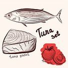 Skipjack,Steak,Dieting,Meat,Food,Vector,Sushi,Sea,Soup,Restaurant,Outline,Trophy,Healthy Eating,Ilustration,Freshness,Merchandise,Yellow,Healthy Nutrition,New,Badge,Seafood,Cooking,Gourmet,Red,Yellow Fin,Raw Food,Prepared Ahi