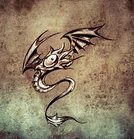 Clown,Curled Up,Curve,Decor,Backgrounds,Creativity,Symbol,Sign,Abstract,Decoration,Ornate,Ink,Pattern,Shape,Posing,Image,Ilustration,Dragon,Elegance,Computer Graphic,Tattoo