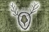 Symbol,Horizontal,Antler,Old-fashioned,Decoration,Backgrounds,Illustration,Martin Hirsch
