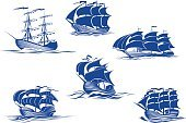Brigantine,Galleon,Old-fashioned,Symbol,Sailboat,Nautical Vessel,Sailing Ship,Galley,Wave,Antique,Single Object,Discovery,Compass,Adventure,Transportation,Sailing,The Past,Cartoon,Wind,Journey,Travel,Design,Yacht,Ilustration,Caravel,History,Marines,Isolated,Rope,Anchor,buccaneer,Mode of Transport,Sail,Water,Silhouette,Sea,Vector