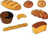 Food,Merchandise,Refreshment,Ornate,Freshness,Symbol,Eating,Isolated,Wheat,Loaf of Bread,Pretzel,Pastry,Rye,Pastry Crust,Computer Graphic,Muffin,Ilustration,Flour,Seed,Snack,Corn,Sign,Bakery,Brown,Wholegrain,Cereal Plant,Meal,Croissant,Vector,Backgrounds,Healthy Lifestyle,Healthy Eating,Design,Cartoon,Bun,Baguette,Crop,Baking,Baker,Cooking,Baked,Dinner,White,Food And Drink,Bread