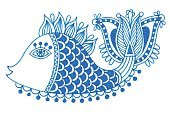Doodle,Sea,Computer Graphic,Decoration,Clip Art,Vector,Innocence,Ornate,Symbol,Ilustration,Koi Carp,Underwater,Creativity,Outline,Restaurant,Ink,Pattern,India,Decor