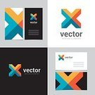 Letter X,Sign,Modern,Banner,Symbol,Vector,Business Card,Geometric Shape,Backgrounds,Shape,Arrow Symbol,Cross Shape,Abstract,Insignia,Computer Graphic,Multi Colored,Design