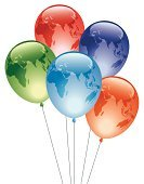 Balloon,Globe - Man Made Object,Earth,Three-dimensional Shape,Map,World Map,Planet - Space,Green Color,continents,Sphere,Mother Nature,Red,Vector,Multi Colored,Europe,Orange Color,Glass Effect,Cartography,Australia,Transparent,Shadow,Shiny,Glowing,Africa,Birthday Balloons,Blue,Ilustration,Asia,Navy Blue,isolated objects,Translucent,Reflection