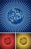 Disco Ball,Entertainment Club,Disco Dancing,Mosaic,Sphere,Nightclub,Illustrations And Vector Art,Arts And Entertainment,Arts Backgrounds,Decoration,Vector Backgrounds,Abstract,Vector,Dancing,Backgrounds,Modern