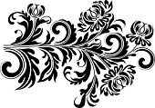 Black And White,Flower,Floral Pattern,Embroidery,Natural Pattern,Bouquet,Ornate,Ornamental Garden,Plant,Elegance,Decoration,filigree,Swirl,Design Element,Scroll Shape,Silhouette,Outline,Retro Revival,Old-fashioned,Creativity,Luxury,Curled Up,Wave Pattern,Painted Image