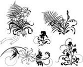 Fern,Iris,Single Flower,Flower,Embroidery,Silhouette,Floral Pattern,filigree,Bouquet,Scroll Shape,Plant,Curled Up,Decoration,Gothic Style,Outline,Classic,Black And White,Swirl,Ornamental Garden,Natural Pattern,Antique,Retro Revival,Victorian Style,Creativity,Renaissance,Design Element,page decoration,Wrapping Paper,Luxury,Elegance,Old-fashioned,Copy Space,Ornate,Art,Wave Pattern