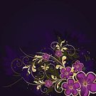 Decoration,Flower,Backgrounds,Abstract,Dark,Swirl,Computer Graphic,Ilustration,Style,template,Nature,Modern,Leaf,Gold Colored