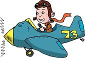 Pilot,Biplane,Cartoon,Airplane,Fighter Plane,Propeller Airplane,Flying Goggles,Military Airplane,Air Force,Air Vehicle,Men,Obsolete,Stunt Plane,Aerial Dogfight,Flying,Propeller,Clip Art,Old-fashioned,Mid-Air,Isolated On White,flying ace,Transportation,War,People,Illustrations And Vector Art,Sale,Vector Cartoons,Vector,Male,Ilustration,Speed