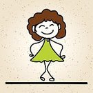 Child,freehand,Positive Emotion,Vector,People,Abstract