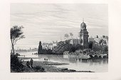 Etching,India,Delhi,History,River,Drypoint,Engraved Image,Palace,Indian Culture,Antique,Ancient,Drawing - Art Product,City,Yamuna River,Mezzotint,Urban Scene,Indian Subcontinent Ethnicity,19th Century Style,Riverbank,Old Delhi,Scratchboard,Ilustration,Old-fashioned,Image Created 19th Century,Indian Ethnicity,Dome,Indian Mutiny,Ancient History,Painted Image,Travel Locations,Monuments,Historical Document,Architecture And Buildings,Tower,British Empire,Cityscape,Architectural Styles,Victorian Style,Ancient Civilization,The Past,Art,Image Created 1850-1859
