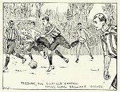 Soccer,Retro Revival,Old-fashioned,Sports Equipment,Playing,Nostalgia,Sheffield - England,Tackling,county,Derby - England,Crystal Palace - Location,The Football Association,Sport,Sporting Position,Uefa,FA Cup,Decisions,Old,Soccer Ball,19th Century Style,Soccer Field,Young Men,Derby County F.C.,Image Created 1890-1899,UK,History,Male,Engraved Image,Sports Venue,Sports Activity,Sports Team,Sports Event,Athlete,Competitive Sport,Image Created 19th Century,Victorian Style,Antique,Ball,Team Sport,Playing Field,Soccer Player,Obsolete,FIFA,Event,The End,Ilustration,The Past,Men,Unity,London - England,England