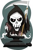 Horror,Hood,Dead Person,Death,Dead,Scythe,Fear,Trick Or Treat,Judgment Day - Apocalypse,Terrified,Grimacing,Bad News,Dark,Depression - Sadness,Traditional Clothing,Death Body,Sullen,Hell,Black Color,Vector,Shock,Bible,Devil,Abandoned,Cape,Grim Reaper,Halloween,sentient,Archangel Samael,Victim,game over,Hopelessness,Costume,Evil,Garment,Ghost,Spooky,Mystery