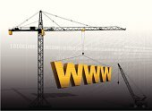Crane - Construction Machinery,Web Page,Construction Site,Construction Industry,www,Internet,Building - Activity,Computer Language,Three-dimensional Shape,Backgrounds,Vector,Construction Machinery,Silhouette,Diminishing Perspective,Tower Crane,Ilustration,Back Lit,Vanishing Point,Illustrations And Vector Art