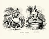 indra,Ilustration,Engraved Image,Buddha,Elephant,Hinduism,Mammal,19th Century Style,Animal,Old-fashioned,Image Created 19th Century,Statue,Indian Elephant,Old,The Past,Antique,Sculpture,Print,God,Speculative Being,Religion,Styles,Woodcut,Obsolete,Pachyderm,Mythology,Buddhism,Zen-like,Hindu God,History,Living Organism,Black And White