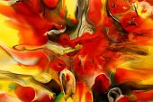 Art,Orange Color,Encaustic,Yellow,Painted Image,Art And Craft,Backgrounds,Color Image,Horizontal,Abstract,Photography,Colors,Multi Colored,Paint,Orange,Red,No People,Green Color