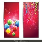 Balloon,Modern,Backgrounds,Birthday,Party - Social Event,Vector,Celebration,Banner,Confetti,Ribbon,Internet,Colors,Multi Colored,Blue,Green Color,White,Red,Vertical,Yellow
