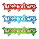 Holiday,Happiness,Cheerful,Placard,Text,Banner,Computer Graphic,happy holidays,Christmas,Art Title,Single Word,Blue,Winter,Green Color,Gold Colored,New Year's Day,Postcard,Isolated,White,Vector,Snowflake,Message,Letter,Greeting,Design Element,Red,wording,Backgrounds,New Year,Greeting Card,Ilustration