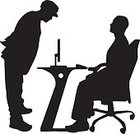 Table,Computer,Director,Office Worker,Silhouette,Ilustration,Business,Sitting,Vector,People,Businessman,Men