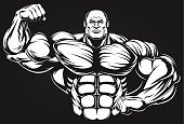 Barbell,Sweat,Steroids,Macho,Men,Smiling,Vector,Sport,Red,Exercising,Strength,Large,Construction Worker,Body Building,Ilustration,bulk,Cute,Dieting