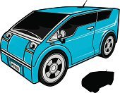 Electric Car,Hybrid Vehicle,Silhouette,Transportation,Alternative Energy,Illustrations And Vector Art,Transportation,Land Vehicle,Vector,Wheel,Environment,Technology