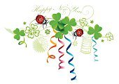 Congratulating,Happiness,Star Shape,Streamer,flourishes,Multi Colored,Lantern,Ladybug,Clover,Flower,Single Flower,Decoration