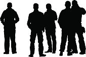 Team,Physical Impairment,Friendship,Silhouette,Men,Couple,People,Male,Vector,Group Of People,Child,Young Adult,Little Boys,Pair,Crowd