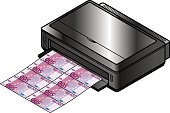 Paper Currency,Currency,Computer Printer,Printing Press,Wealth,Isometric,inkjet,Bank,Abundance,Forgery,Criminal,Crime,Three Dimensional