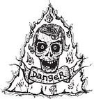 Human Skull,Retro Revival,Human Bone,Grunge,Gap Toothed,Dirty,Shock,Concepts,Spooky,Black And White,Horror,Tattoo,Fear,Devil,Burning,Symbol,Pencil Drawing,Old-fashioned,Drawing - Art Product,Fun,Flame,Banner,Dead,Protection,Sign,Death,Halloween,Fire - Natural Phenomenon,Danger,Warning Sign,Evil,Cartoon,Ilustration,Humor,Human Head,Smiling,Doodle,Sketch,hand drawn,Hell