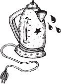 Teapot,Handle,Power Supply,Single Object,useful,Sketch,hand drawn,Work Tool,Kitchenware Department,Drink,Design,Doodle,Drinking,Power Line,Food,Electricity,Pencil Drawing,Ilustration,Plastic,Liquid,Equipment,Tea - Hot Drink,Coffee - Drink,white and black,Soup,Kettle,Drinking Water,Boiling,Heat - Temperature,Drop,Cable,Water,Domestic Life,Drawing - Art Product