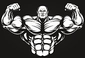 Body Building,Vector,Steroids,Red,Sweat,Men,Smiling,Sport,Dieting,Macho,bulk,Construction Worker,Barbell,Large,Strength,Cute,Ilustration,Exercising