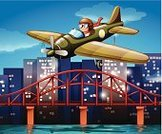 Vacations,Engine,Flying,Men,Town,Vector,River,Air Vehicle,Commercial Airplane,Scenics,Clip Art,Outdoors,Airplane,Transportation,Land Vehicle,Computer Graphic