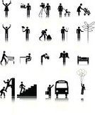 Stick Figure,Climbing,Silhouette,Community,Devil,People,Shopping,Icon Set,Men,Transportation,Mother,Unity,Filming,Hungry,Equality,Concepts,Connection,Direction,Taking Off,Ilustration,Black Color,Accessibility,Information Symbol,Simplicity,Business Symbols/Metaphors,Vector Icons,Illustrations And Vector Art,Concepts And Ideas,Business,Reflection