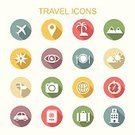 Icon Set,Travel,Symbol,Compass,Globe - Man Made Object,Land Vehicle,Navigational Equipment,Airplane,White,Journey,Sign,Map,Restaurant,Vacations,Earth,Bag,Sun,Car,Around,Shadow,Camera - Photographic Equipment,Isolated,Suitcase,Multi Colored,Food,Summer,Passport,Vector,Long,Hotel,Ilustration,Transportation