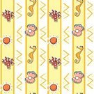 Backdrop,Backgrounds,Lifestyles,Underwater,Vector,Animal,Sea,Pattern,Clip Art,Yellow,Reef,Sea Horse,Computer Graphic
