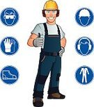 Safety,Occupation,Clothing,Manual Worker,Hardhat,Protective Workwear,Protective Glove,Construction Industry,Hat,Protection,White,Blue,Industry,Work Helmet,Toughness,Equipment,Work Glove,White Background,Protective Eyewear,Eyeglasses
